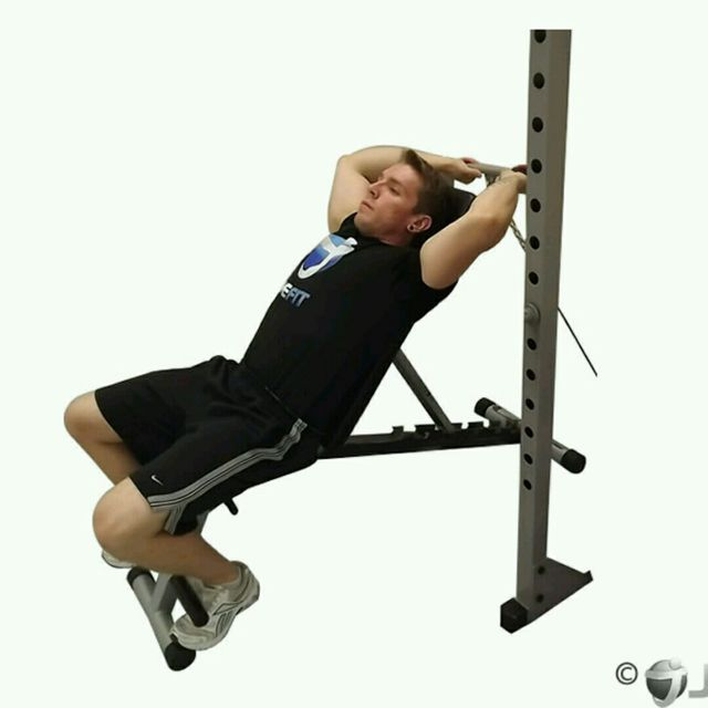 How to do: CM Incline Bench Tricep Extension - Step 1