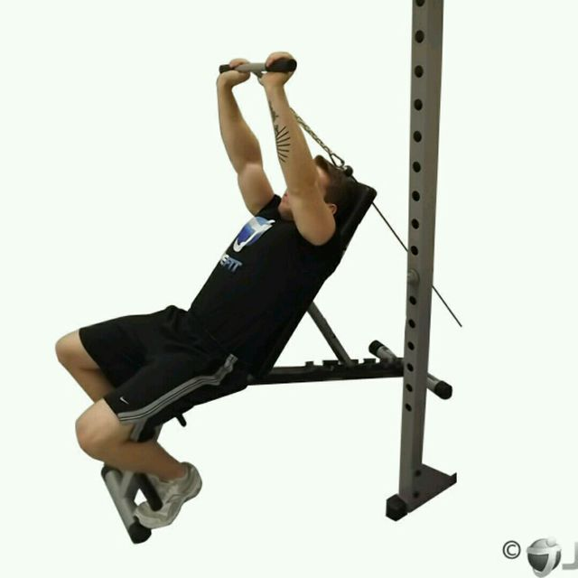 How to do: CM Incline Bench Tricep Extension - Step 2