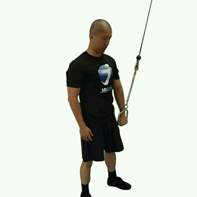 How to do: CM One Hand Triceps Pushdown - Step 2