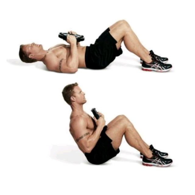 How to do: Weighted Sit Ups - Step 1