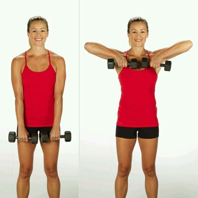 How to do: Upright Row to Shoulder Press - Step 1