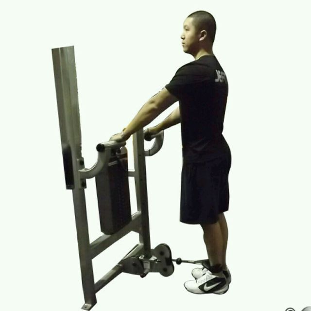 How to do: CM Standing Leg Curl - Step 1