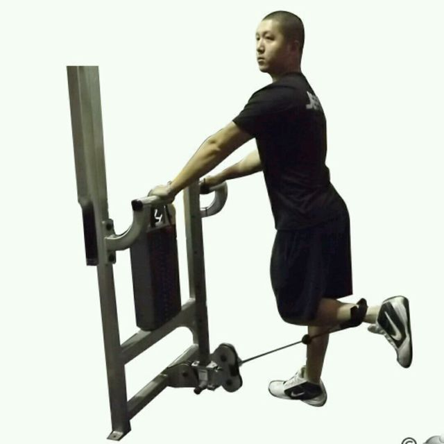 How to do: CM Standing Leg Curl - Step 2