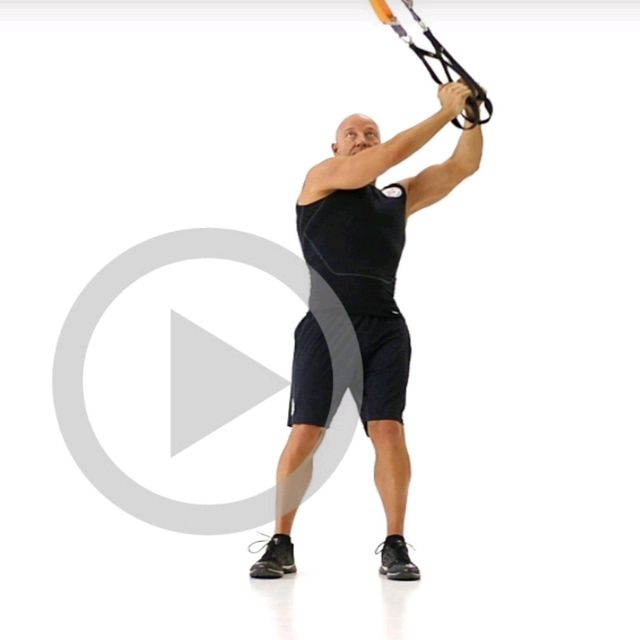 How to do: TRX TORSO ROTATION LEFT - Step 1