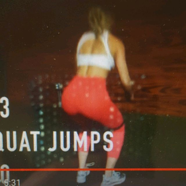 How to do: Resistance Band Squat Jumps - Step 3