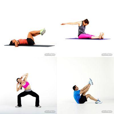 Core, yoga, pilates