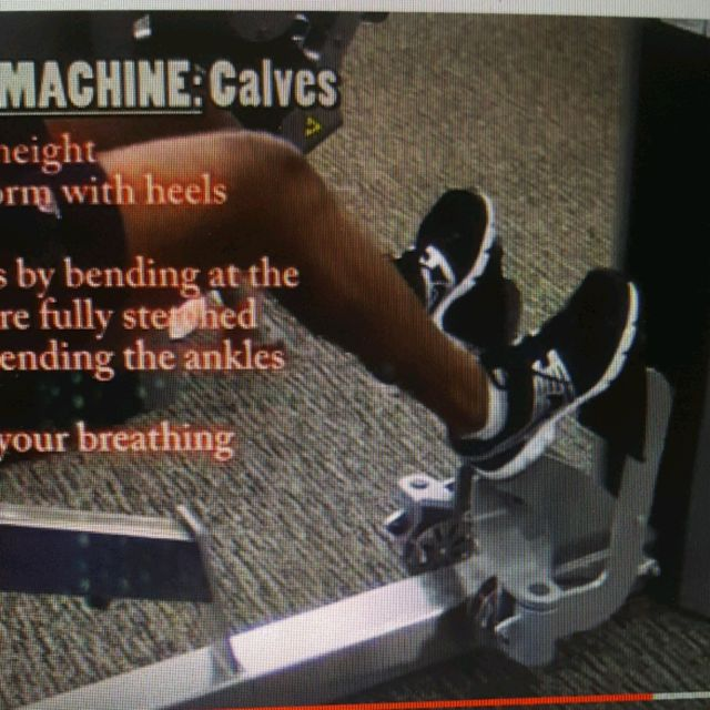 How to do: Machine: Free motion Calf Machine - Step 1