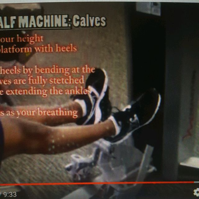 How to do: Machine: Free motion Calf Machine - Step 2
