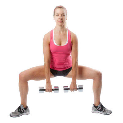 10 Weighted Sumo Squat