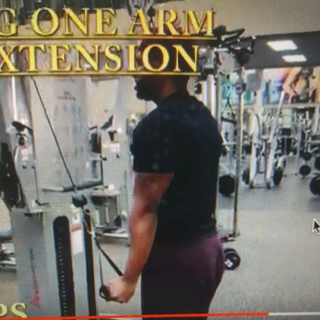How to do: Standing One Arm Tricep Extension - Step 2