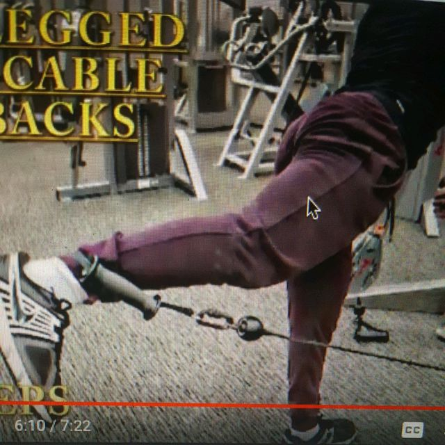 How to do: One Legged Bent Cable Kickbacks - Step 1
