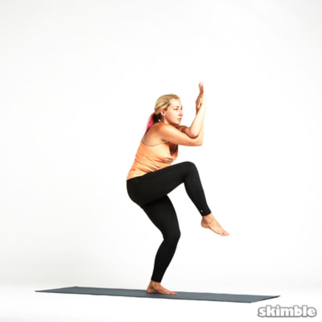 How to do: Eagle Pose - Step 6