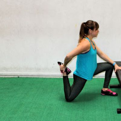 Kneeling Quad Hip Flexor Stretch
