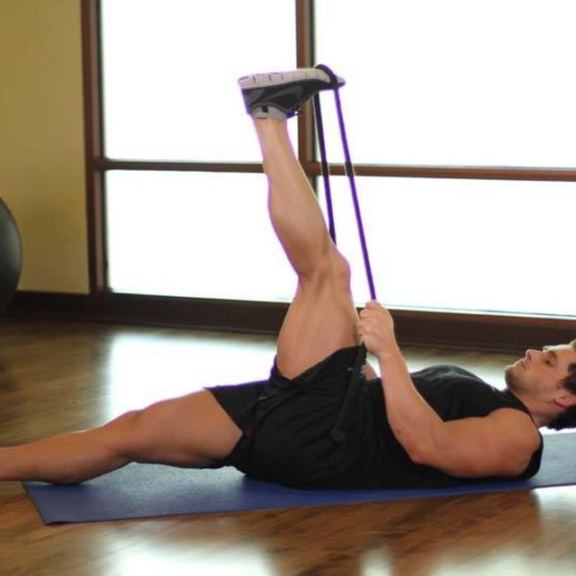How to do: Band Hamstring Stretch - Step 1