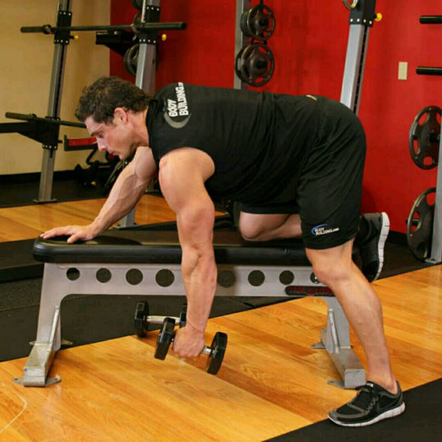 How to do: One arm dumbbell row (custom) - Step 1