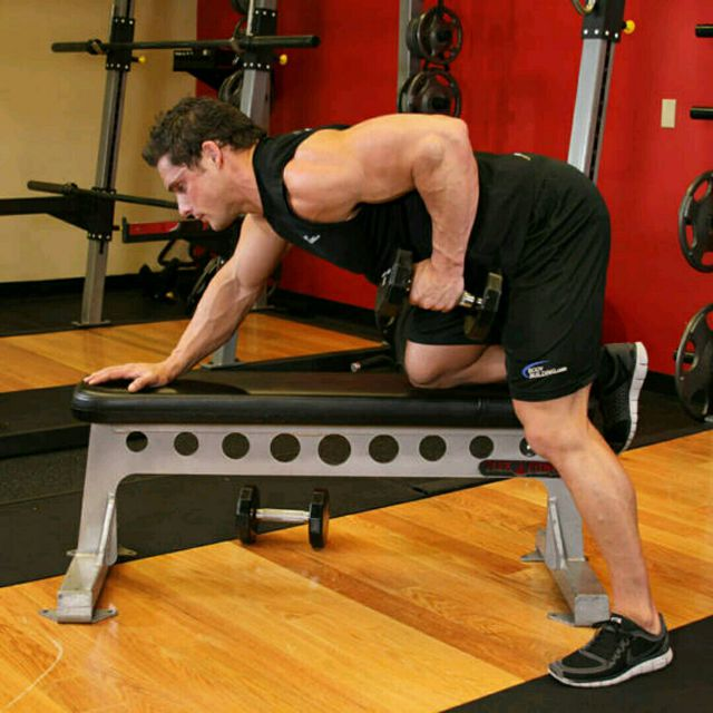 How to do: One arm dumbbell row (custom) - Step 2