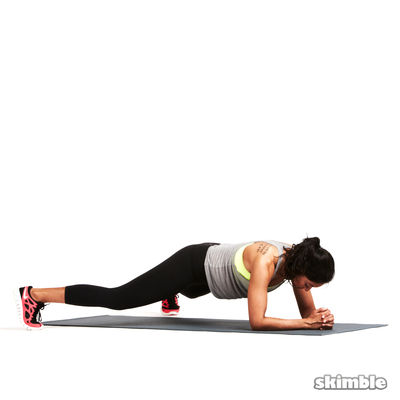 Elbow Plank Hop Outs