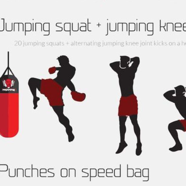 How to do: Jumping Squat And Knee Kick - Step 1