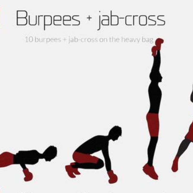 How to do: Burpee+jab And Cross - Step 1