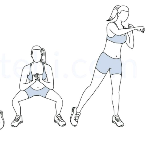 How to do: BOXER SQUAT PUNCH - Step 2
