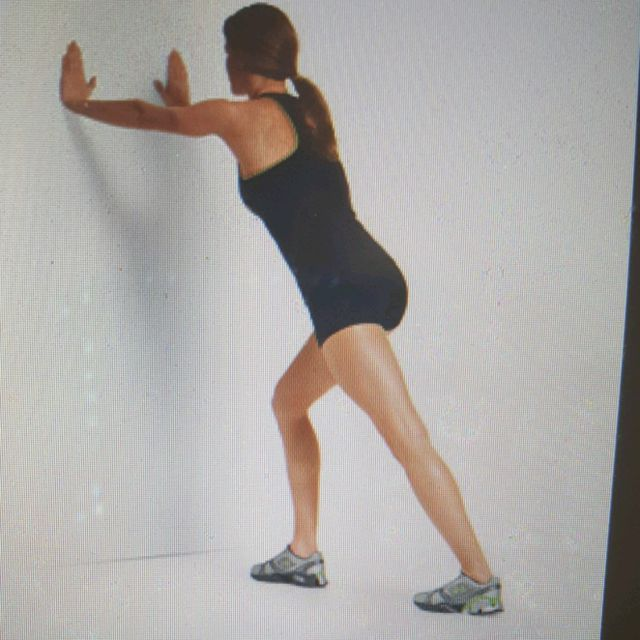 How to do: Stretch: Calf Lunge Right - Step 1