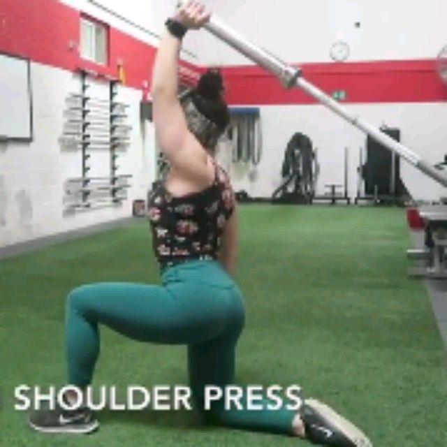 How to do: SINGLE ARM SHOULDER PRESS - Step 1