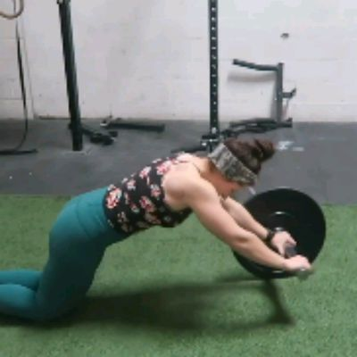 BARBELL AB ROLL OUTS