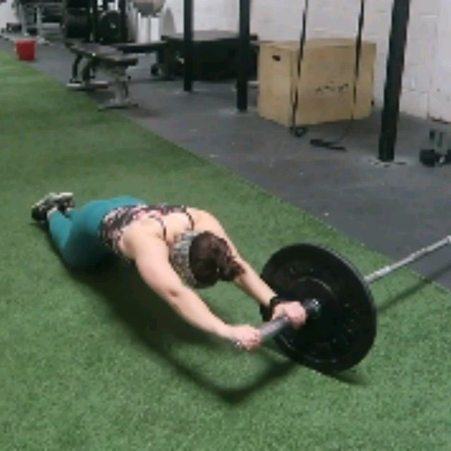 How to do: BARBELL AB ROLL OUTS - Step 9