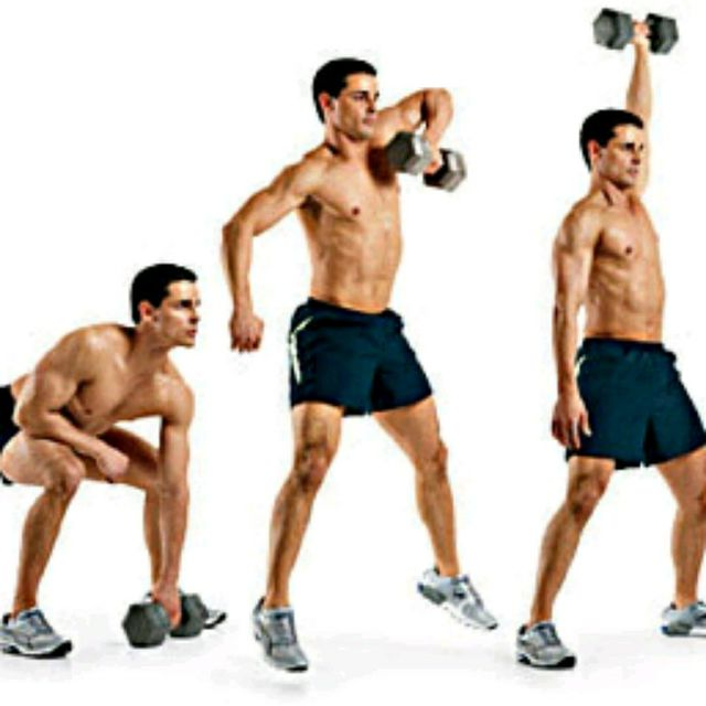 How to do: Right Dumbell Snatch - Step 1