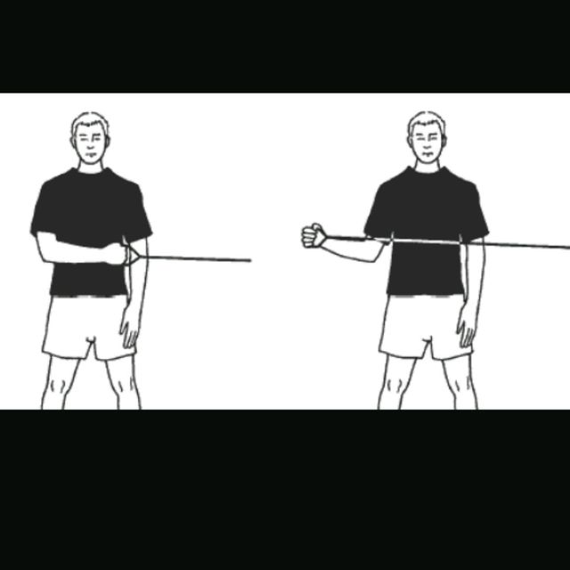 How to do: Shoulder External Rotations With Band - Step 2