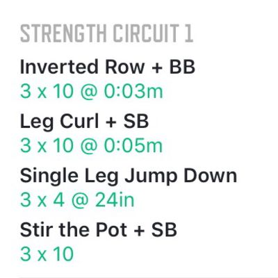 Strength Circuit 1