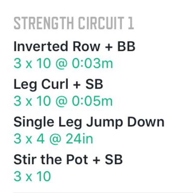 How to do: Strength Circuit 1 - Step 1