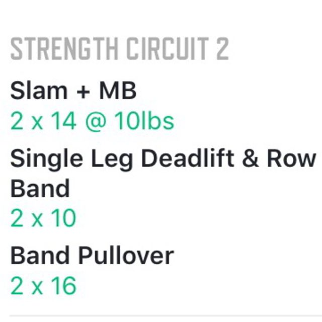 How to do: Strength Circuit 2 - Step 1