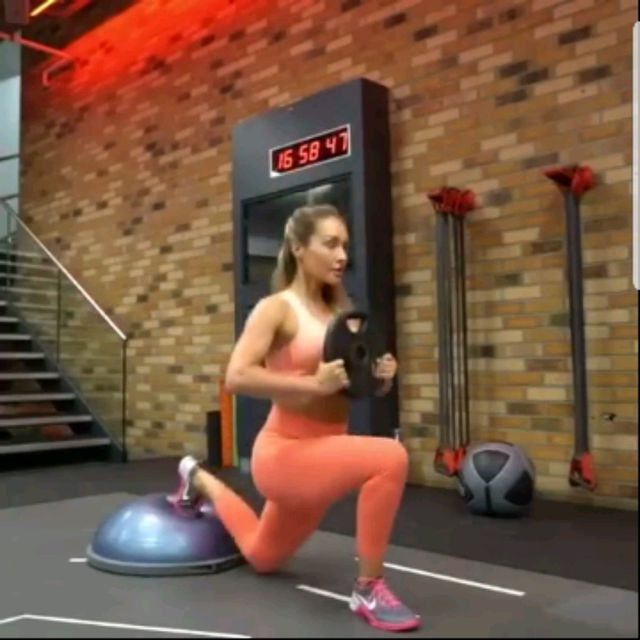 How to do: Bosu Leg Day- Left Leg - Step 1