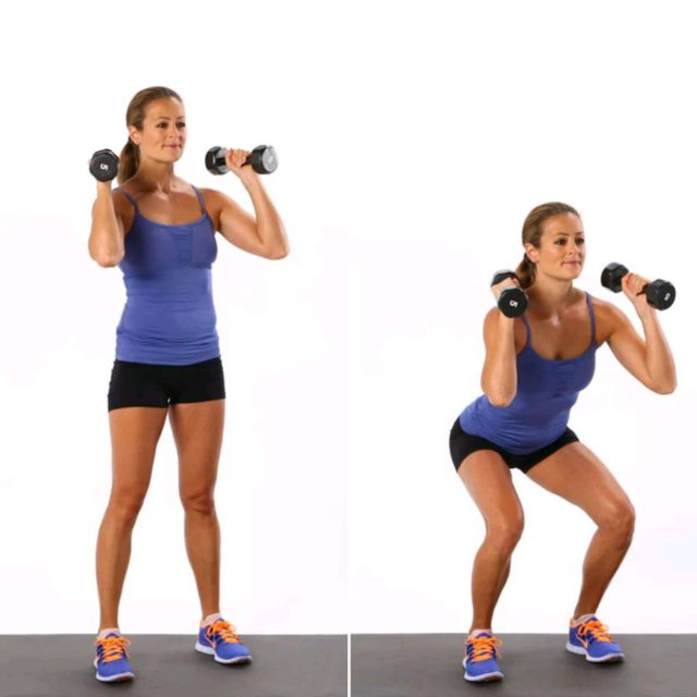 How to do: Dumbell Squats - Step 1