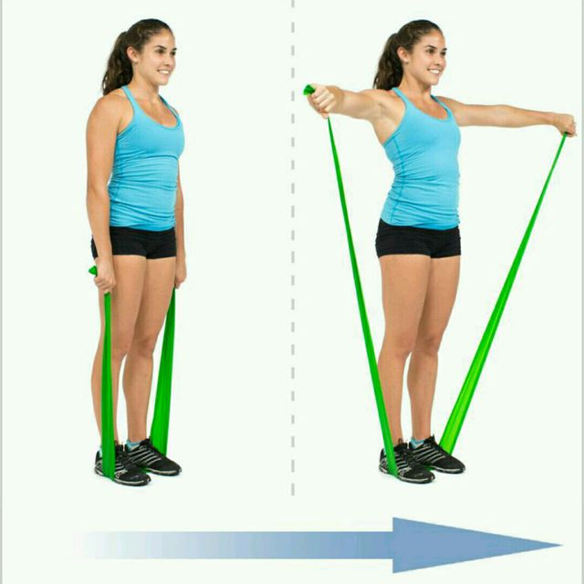 How to do: Lateral Raise With Flat Band - Step 1