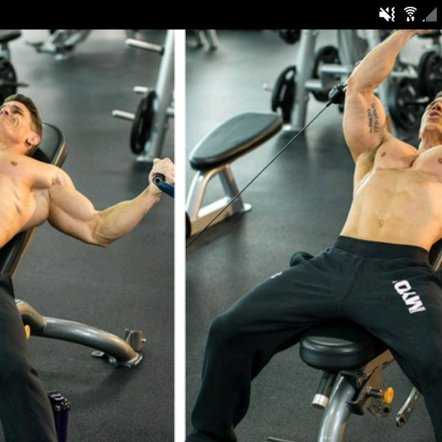 How to do: Incline Bench Cable Fly - Step 1