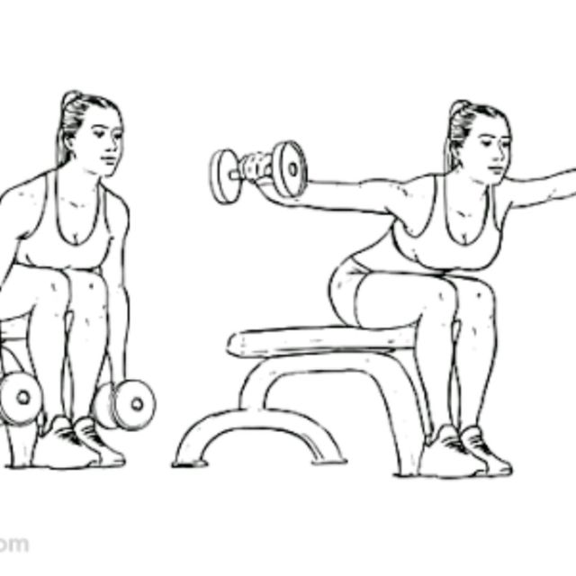 How to do: Single dumbbell front raise - Step 1