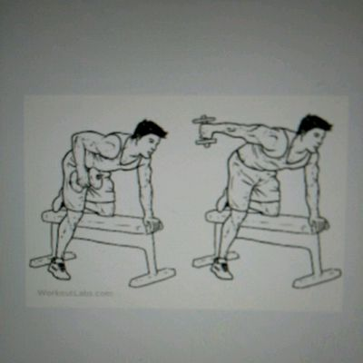 Dumbbell Tricep Press Downs