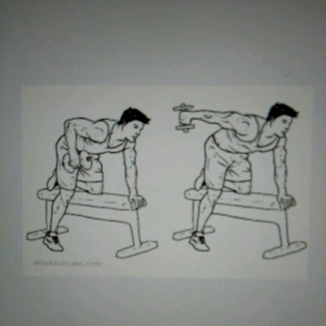 How to do: Dumbbell Tricep Press Downs - Step 1