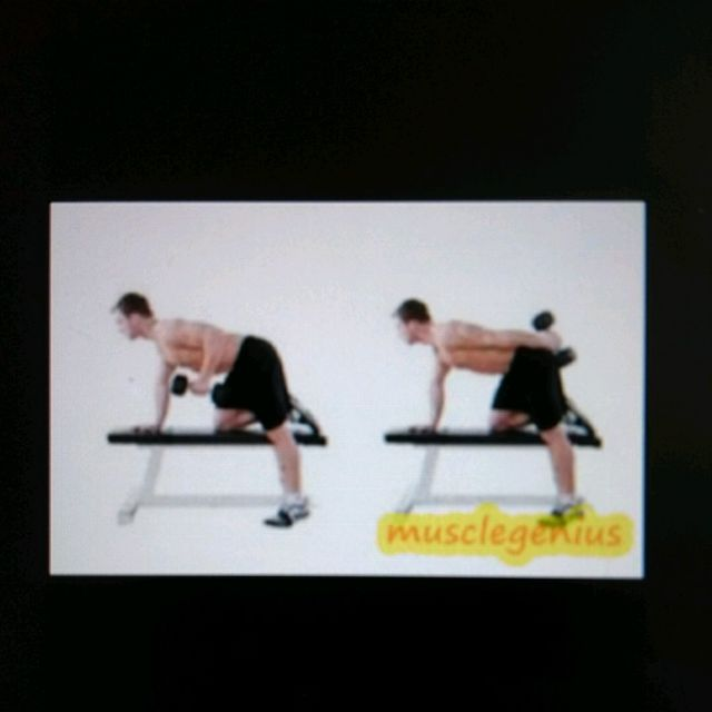 How to do: Bent over Dumbbell Extensions - Step 1