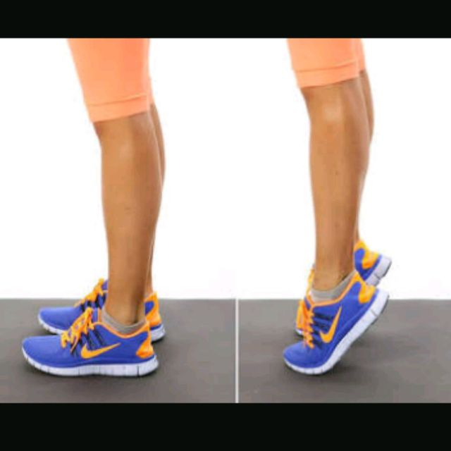 How to do: Standing Calf Raises (Regular)With Barbell - Step 1