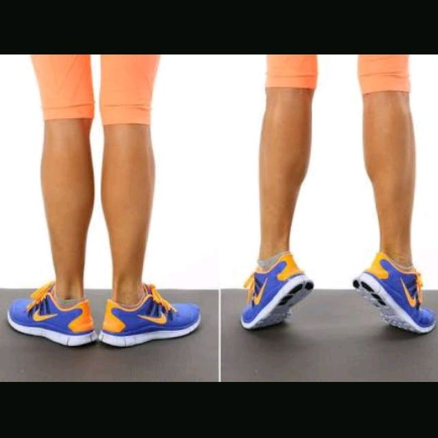 How to do: Standing Calf Raises (Outter) With Barbell - Step 1