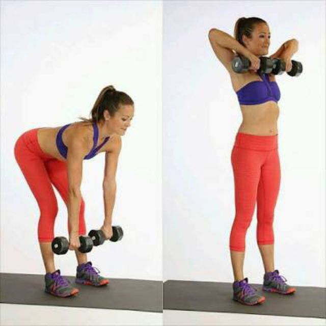 How to do: Deadlift To Upright Row - Step 1