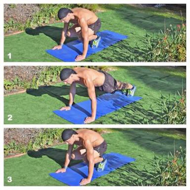 How to do: Half Burpee - Step 1