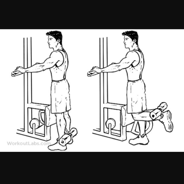 How to do: Standing Leg Curl - Step 1