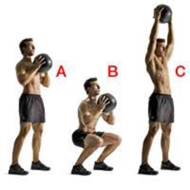 How to do: Kettlebell Squat To Press - Step 1