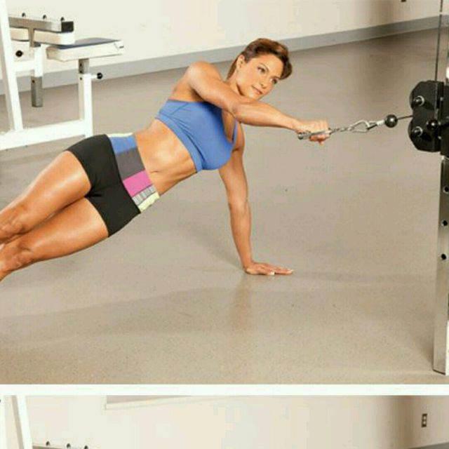 How to do: CM Side Plank Rows - Step 1