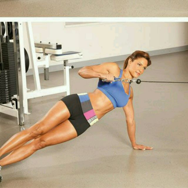 How to do: CM Side Plank Rows - Step 2