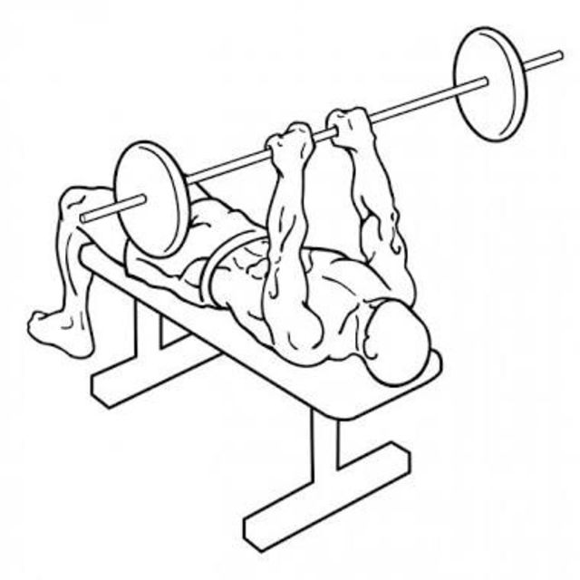 How to do: Close Grip Barbell Bench Press - Step 1